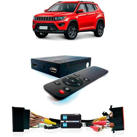 Desbloqueio De Multimídia Jeep Compass com TV Full HD Faaftech