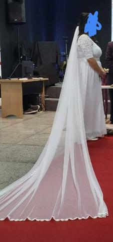 Vestido de Noiva com véu - Foto 2
