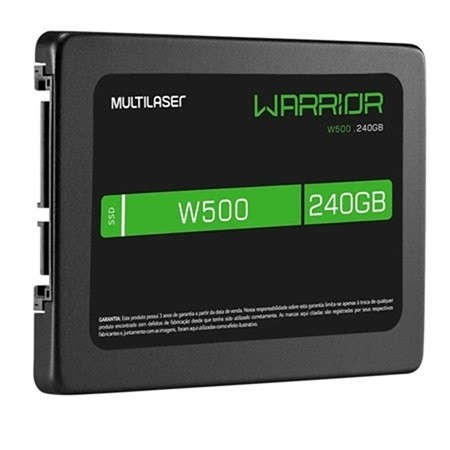 Ssd Gamer Warrior 2,5 Pol. 240Gb W500 - Gravação 500 Mb/S - SS210