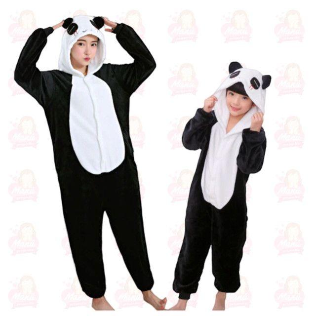 Pijamas pelúcia diversos - adulto e infantil - Foto 3