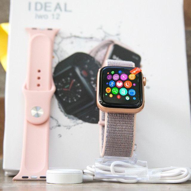 Relógio Smartwatch Iwo 12 Pro Original Gps Cor Rosa Pulseira Brinde