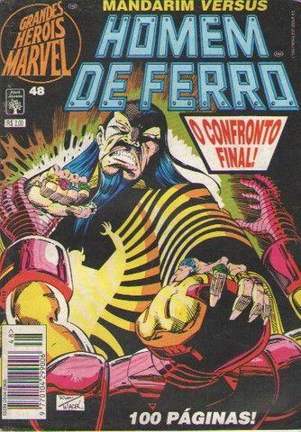 Grandes Heróis Marvel - Ed. 48 - Homem de Ferro - 84pg - 1995 - Abril-Marvel