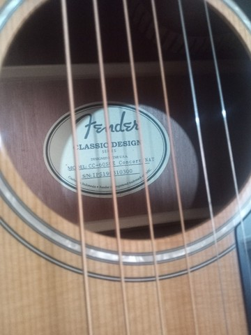 Violão Fender cc60 sce classic eletroacústico, afinador e capa de couro, novo - Foto 4