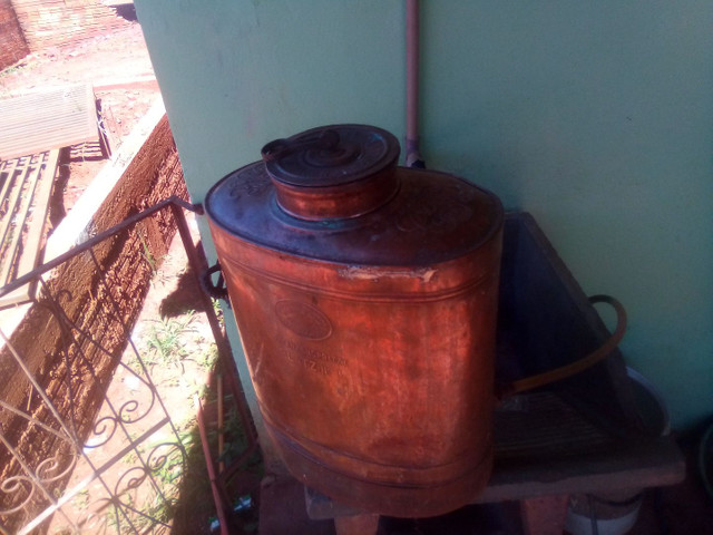 Bomba pulverizacao de cobre antiga - Foto 4