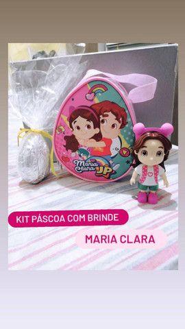 Kit de Páscoa Infantil com Sacolinha, Ovo, Bombons e Brinde