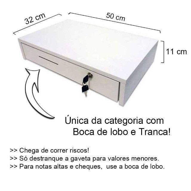 Nova caixa gaveta com separador de notas moedas chave e boca de lobo - Foto 2