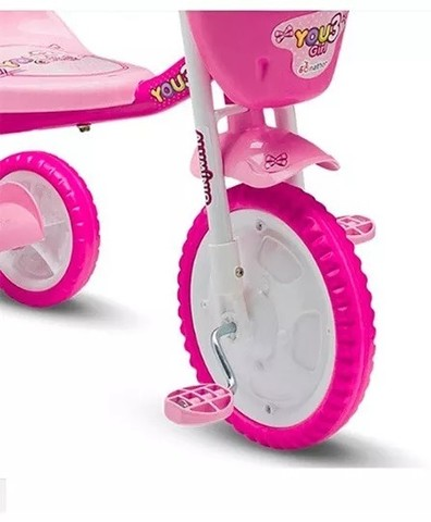 Triciclo Infantil You Girl Rosa - Nathor - Foto 4