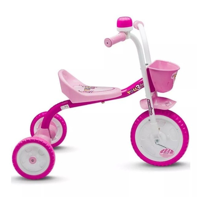 Triciclo Infantil You Girl Rosa - Nathor - Foto 3
