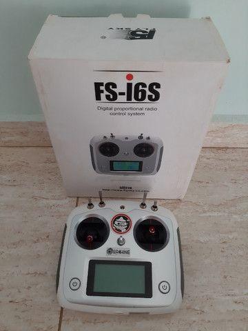 Rádio Controle Premium transmissor 10ch Tx Flysky 2.4ghz Drone Fs-i6s