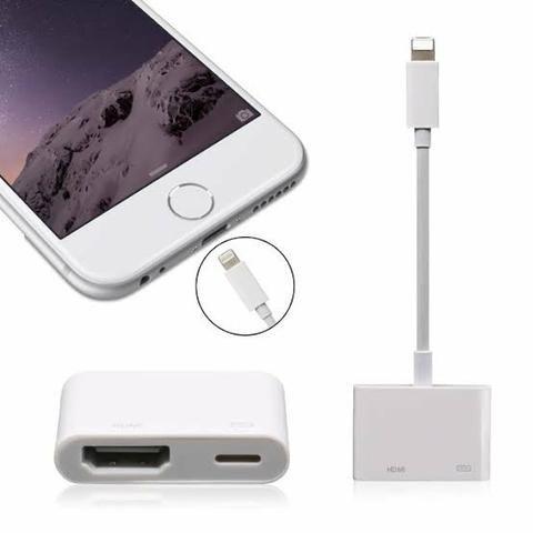 6036cd73b15 Adaptador Chromecast Iphone 6 7 8 Tv Hdmi Ipad Ipod Cabo - Celulares ...