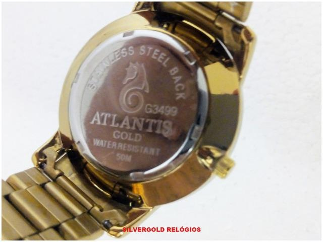 c6da76510b Relógio Feminino Atlantis G3499 Dourado com Branco. Novo