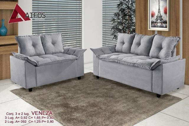 Sofá Veneza 2 e 3 lugares B444 - Móveis - Campo Grande ...