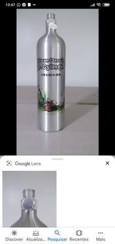 Cilindro de Co2 2 litros para aquário