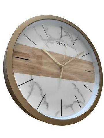 Relógio de Parede Dourado - Foto 3