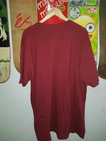 Camisa De Malha Ecko Cor Vinho Estampada GG - Foto 3