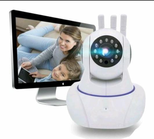 Câmera ip robô 3 antenas via Wi-Fi App próprio e visão noturna yoosee - Foto 3