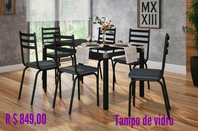 Mesas limdas direto da fabrica.6 cadeiras.850