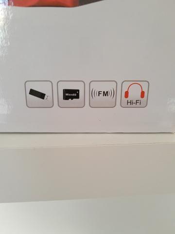 Caixinha de som com Bluetooth, entrada para pen drive, cartão de memória e rádio FM - Foto 6