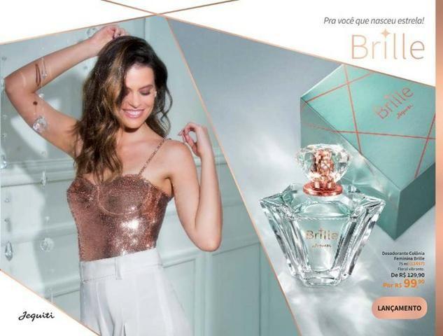 Perfume feminino brille 75ml , lançamento jequiti , otimo