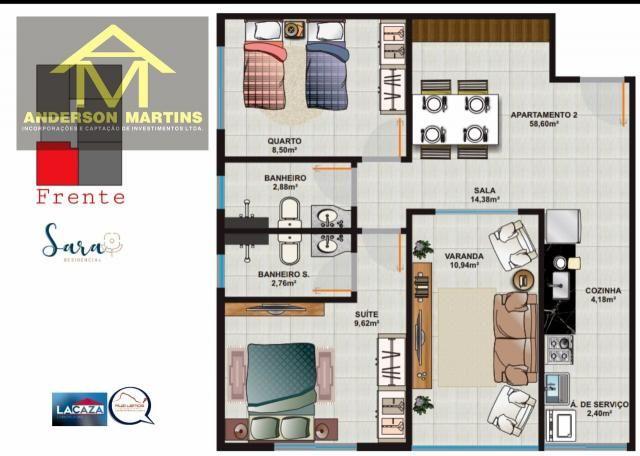 Apartamento à venda com 2 dormitórios em São geraldo, Cariacica cod:14888 - Foto 7