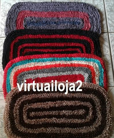 Tapete franzido malha fria colorido para porta - Foto 4