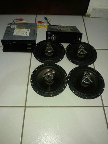 Dois toca cds e oito 4 alto falante - Foto 2