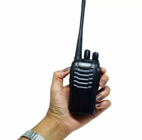Kit 2 Rádios Comunicador HT Walk Talk UHF 16 Canais Profissional Knup KP-M0008 - Foto 2