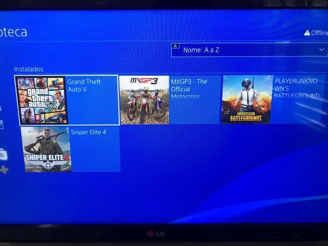 PS4 slim 500g + 2 controles + 9 jogos - Foto 4