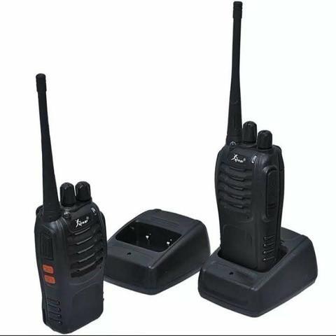 Kit 2 Rádios Comunicador HT Walk Talk UHF 16 Canais Profissional Knup KP-M0008 - Foto 4