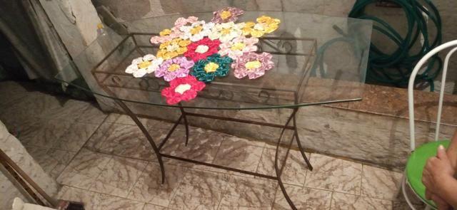 Mesa com tampa de vidro - Foto 2
