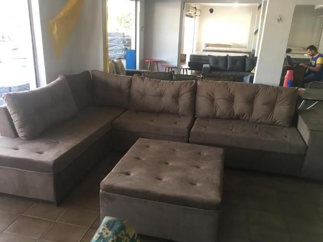 Sofa gigante de canto de 1.999 agora por apenas 1.499 a vista whatsapp;na descrição