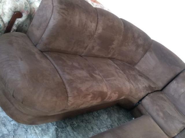 Sofá de canto c/ puff e chaise - 2,90 x 2,50 - entrego! - Foto 6