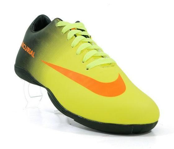 Chuteira Futsal Nike Mercurial Amarelo e Preto - Roupas e calçados ... 3b5aba13fcaec