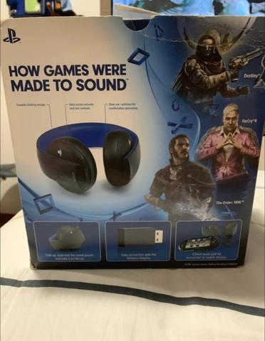 Fone De Ouvido Headset Gold Ps4 Wireless Stereo 7.1 Ps4 - Foto 4