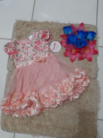 Vestido Florido Bordado Nannette Importado
