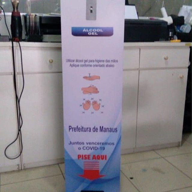Totem dispenser para álcool em gel (padrão) - Foto 2