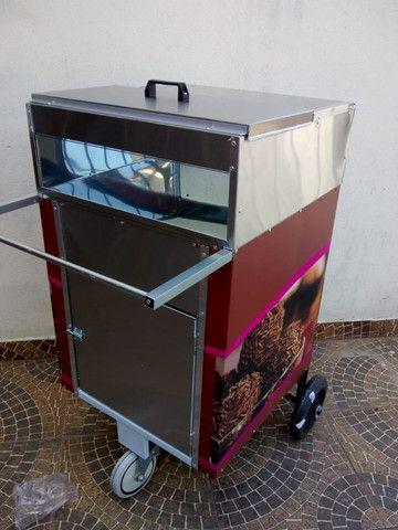 Carrinho p/ doces, bolos e salgados  negócios delivery na garagem - Foto 5