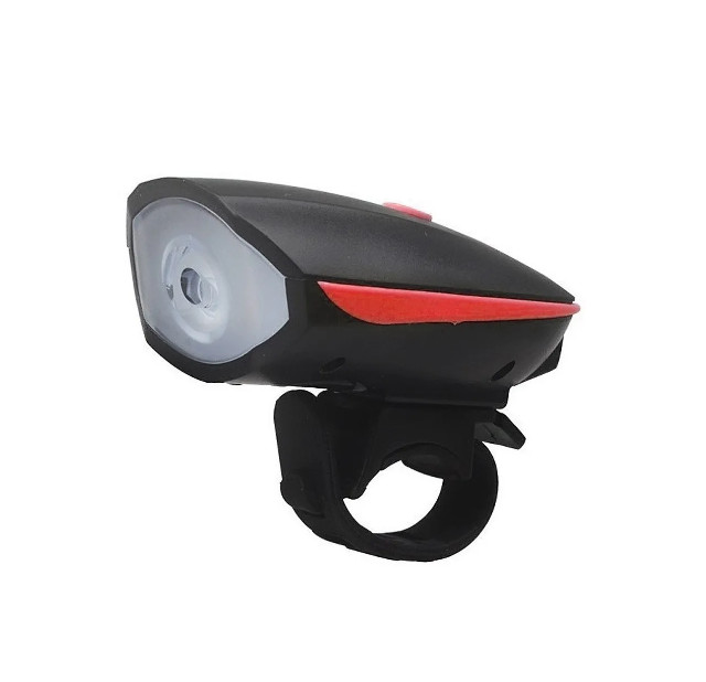 Lanterna Farol Sinalizador Recarregável com Buzina para Bike Bicicleta - Pronta Entrega - Foto 3