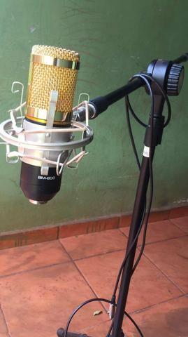 Microfone completo+pedestal vector - Foto 5
