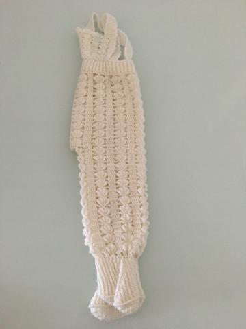Conjunto de lã + jardineira de lã, tamanho P - Foto 4
