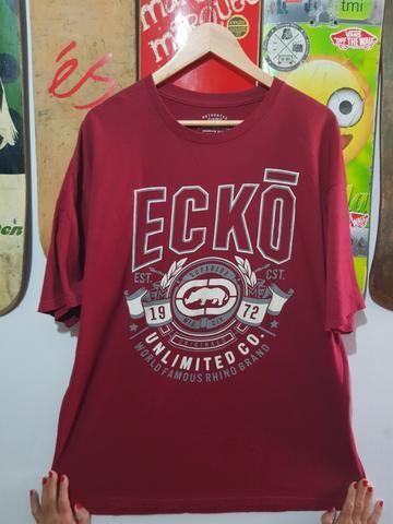 Camisa De Malha Ecko Cor Vinho Estampada GG