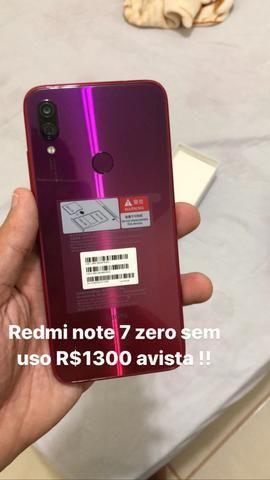 Redmi note 7 64 ZERO sem uso!!