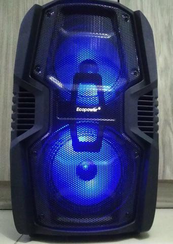 Caixa De Som Amplificada Bluetooth,250wrms + 1 Microfone S/f - Foto 2
