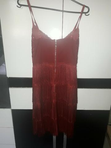 Vestido franjas tamanho P - Foto 2