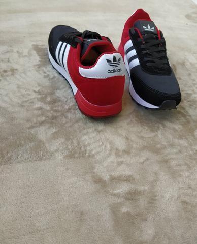 Tênis Adidas Neo Preto vermelho (SALDÃO) - Foto 2