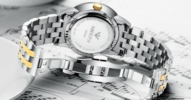 Relógio Masculino Genuine Prateado Nibosi® - Original - Foto 4