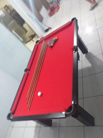 Mesa Tentação de 4 Pés Cor Tabaco Tecido Vermelho Mod. GJSD5700 - Foto 2