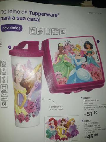 Copo Princesas da Disney tupperware - Foto 2