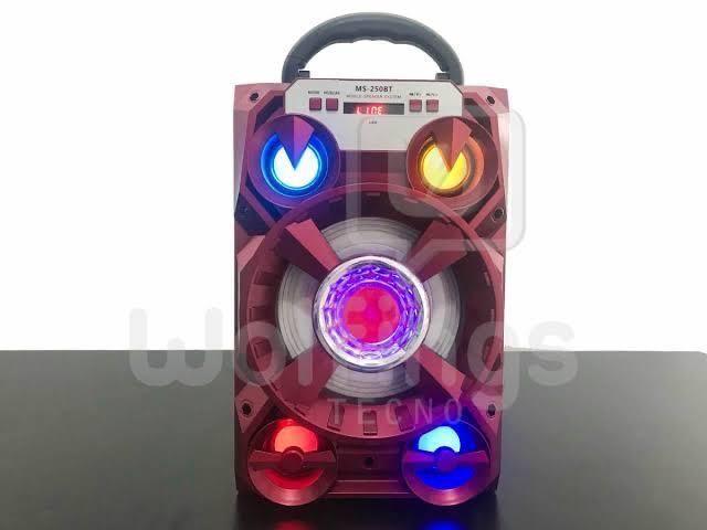 Caixa de Som 5 Alto-falantes Bluetooth Portatil Amplificada - Foto 4