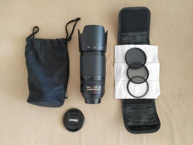 Lente Nikon AF-S VR Zoom Nikkor 70-300mm F/4,5-5,6G IF-ED